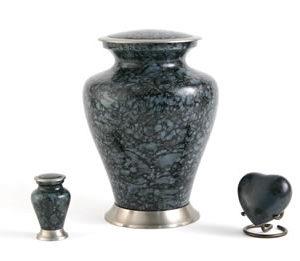 Grey Marble Large Urn