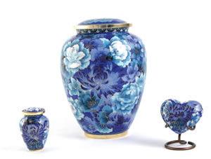 Floral Blue Elite Urn