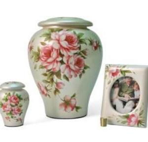 Floral Rose Bouquet Urn