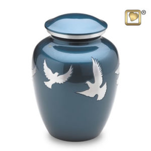 Flying doves large urn
