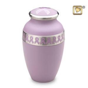 Awareness pink urn large