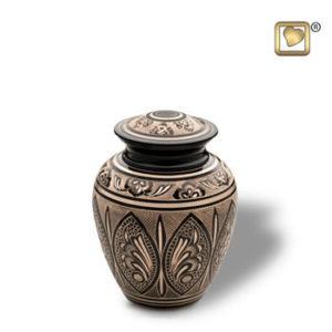 Black and gold medium urn
