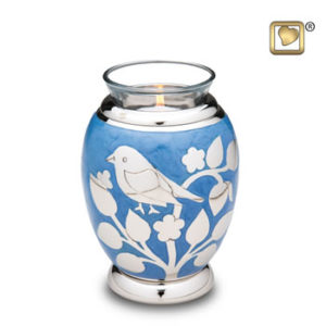 Silver bird tealight