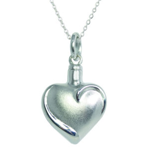 Fancy Heart Ash Pendant (chain included) (G)