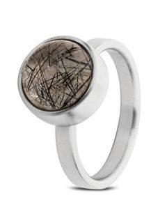 Rutilated Quartz Ring Silver