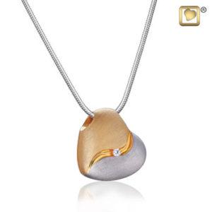Heartfelt (Silver-Gold) Ash Pendant