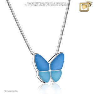 Wings of Hope (Blue) Ash Pendant