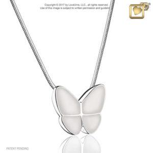 Wings of Hope (Pearl) Ash Pendant