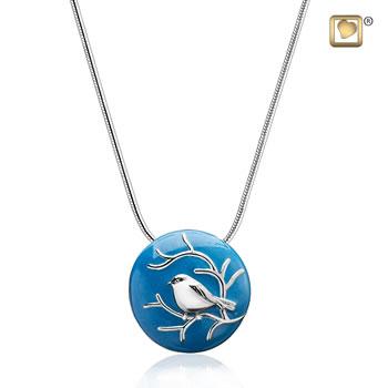 Blessing Birds Silver Ash Pendant