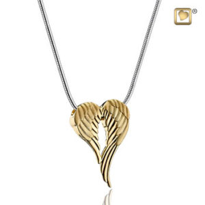 Angel Wings Gold Ash Pendant