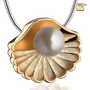 Sea Shell Ash Pendant Gold