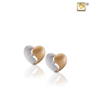 Heartfelt (Silver-Gold) Earring