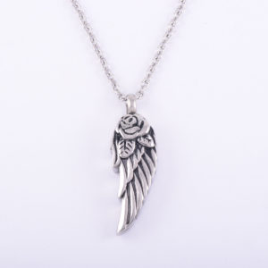 SINGLE Angel Wing Ash Pendant (chain included)