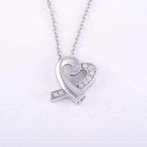 Diamante Heart Ash Pendant (chain included)