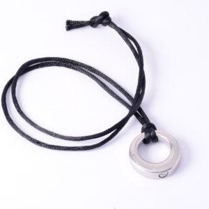 Circle Ash Pendant (Black cord included)