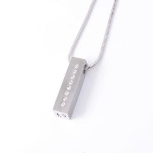 Diamante Rectangle Ash Pendant (chain included)