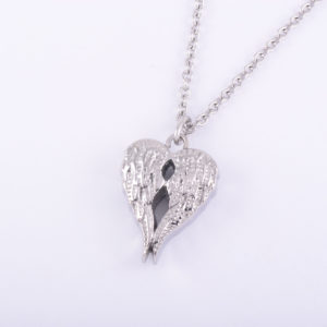 DOUBLE Angel Wings Ash Pendant (chain included)
