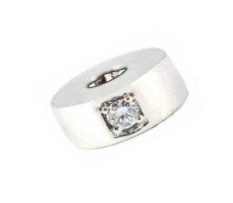 0.10pt Diamond Round Tribute Bead - 925 SS