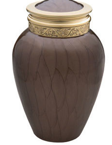 medium blessing bronze urn